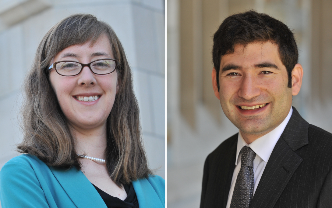 Catherine Hausman and Josh Hausman headshots