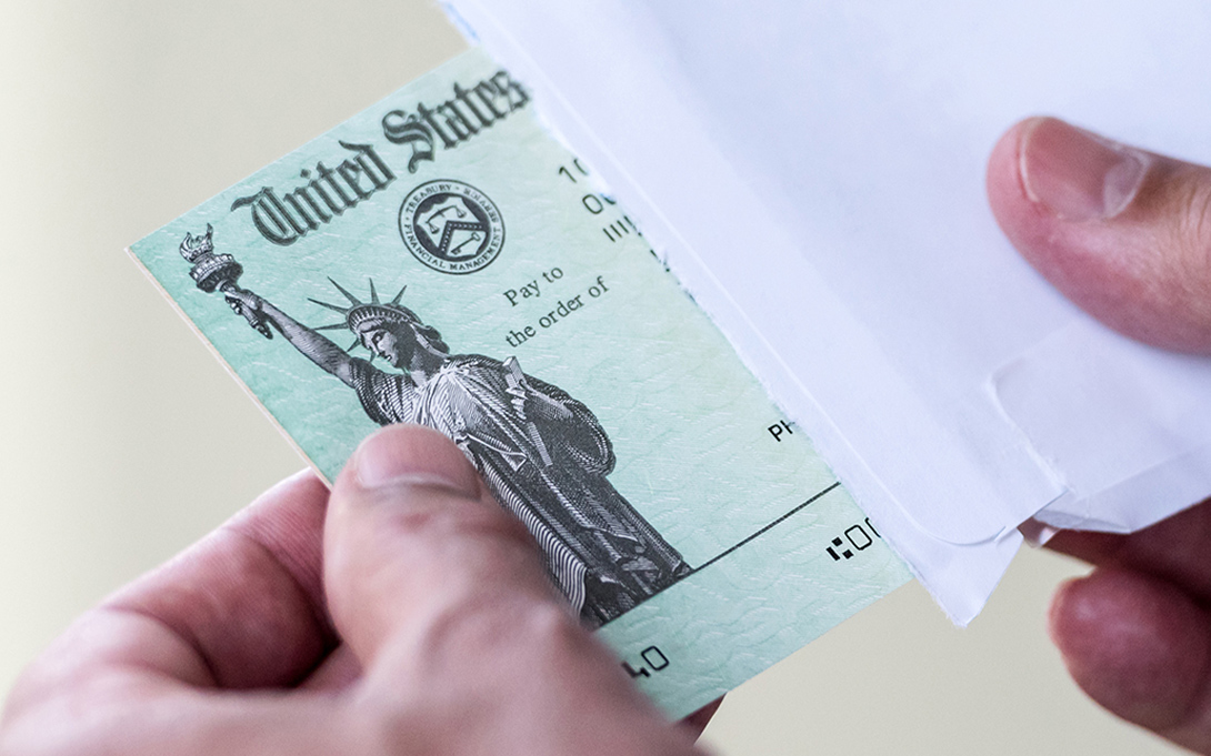 Stimulus check from the US Treasury