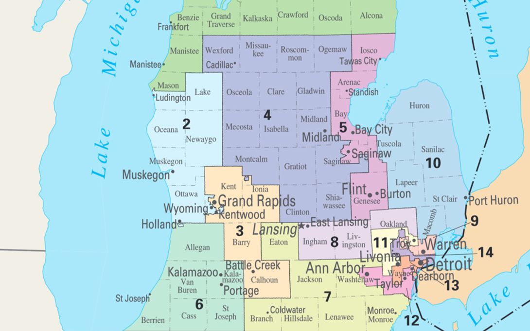 Michigan Congressional Map (113th Congress)