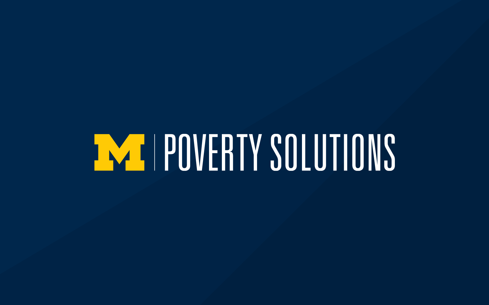 Poverty Solutions informal logo on a blue background