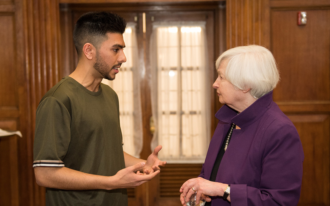 Ford School senior and former Fed Chair Janet Yellen