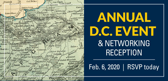 Graphic for annual DC event and networking reception. Feb. 6, 2020. Click to RSVP