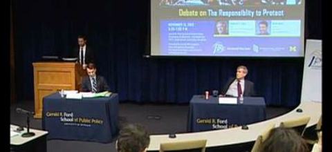 Link to:Edward Luck and Brad Roth: Responsibility to protect debate