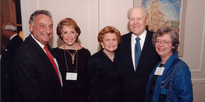 Sandy and Joan Weill, Betty and President Ford, Rebecca Blank