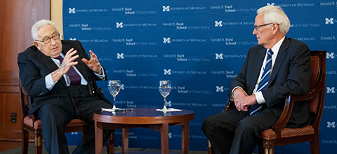 Link to:Henry Kissinger and Paul O'Neill: Gerald Ford's legacy