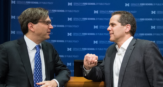 Photo of Jason Furman and Michael Barr