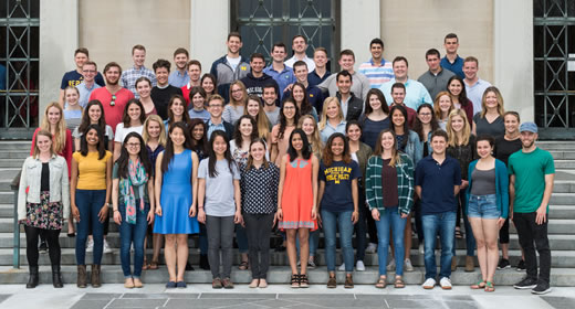 Photo of the Ford School undergraduate class of 2017