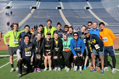Students and staff run Big House 5K for fun and charity image