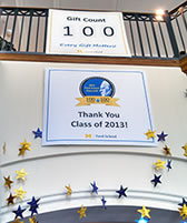 2013 Class Gift Campaign, 100 gifts from 100 Fordies, surpasses its goal image