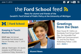 'Ford School feed'—Worldwide Ford School Spirit Day, Robert Axelrod and the Johan Skytte Prize, 2014 Bohnett Fellows, and more. image
