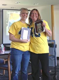 Elisabeth Johnston and Bonnie Roberts receive 2013 Staff Recognition Awards image