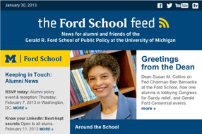 'Ford School feed' – how to RSVP for the DC trip, Fed Chairman Ben Bernanke's visit, southeast Michigan's RTA, and more image