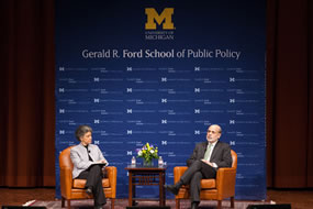 Chairman Bernanke's Policy Talks @ the Ford School remarks widely covered by local, national media image