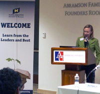 """Kathleen Mogelgaard (MPP '04) presents at U-M """"Sustainability in Public Policy"""" event image"""