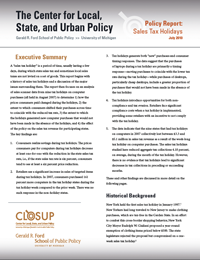 CLOSUP report: Sales tax holiday spurs business, losses in tax collections image