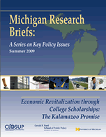 CLOSUP publishes brief exploring economic revitalization through college scholarships image
