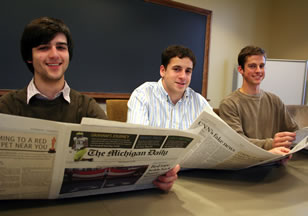 Undergraduate program links Ford School with student-run campus paper, <em>The Daily</em> image