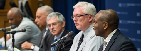 Link to:Ford School panel discussion focuses on Cincinnati's innovative model of police reform