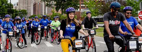 Link to:Nuszkowski boosts pedal power in the Motor City through MoGo bike share