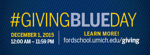 Link to:Giving Blueday on 12/1: Make a big impact for the Ford School this giving season