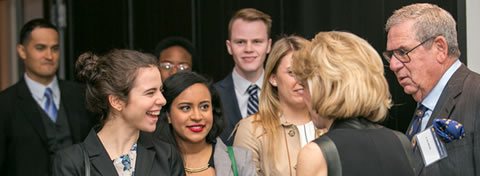 Link to:Ford School students attend J. Ira Harris Lecture in New York, meet Secretary of Commerce