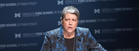 Link to:Michigan Daily covers Janet Napolitano's talk on politics and public service