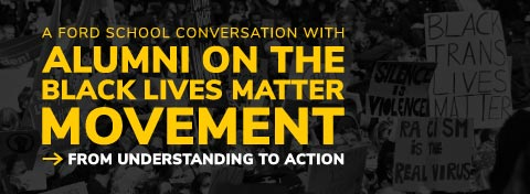 Link to:Ford School community celebrates Spirit Day with a conversation about the Black Lives Matter and racial justice policy