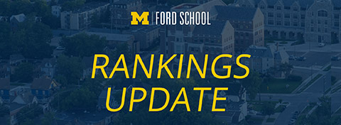 Link to:The Ford School ranks number one in social policy