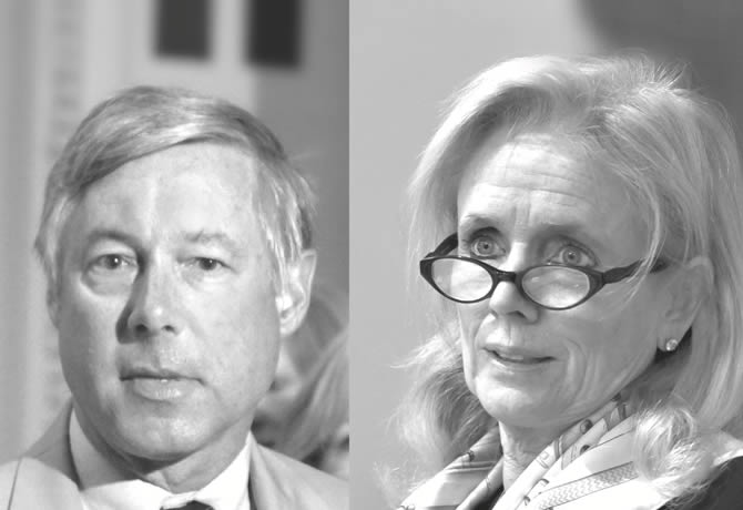 Photo of U.S. Representatives Debbie Dingell and Fred Upton