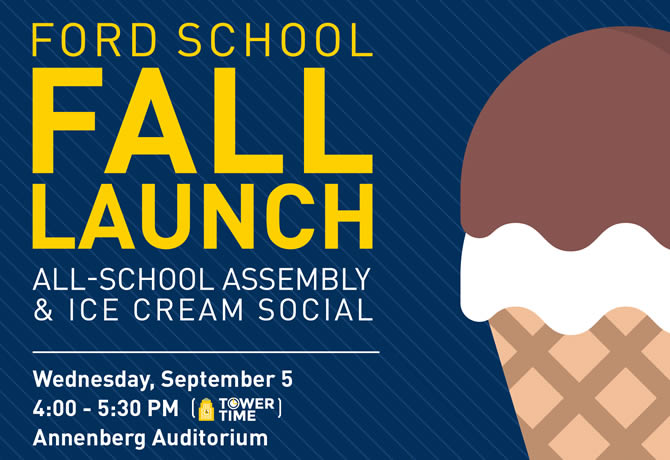 Fall Launch: All School Assembly and Ice Cream Social