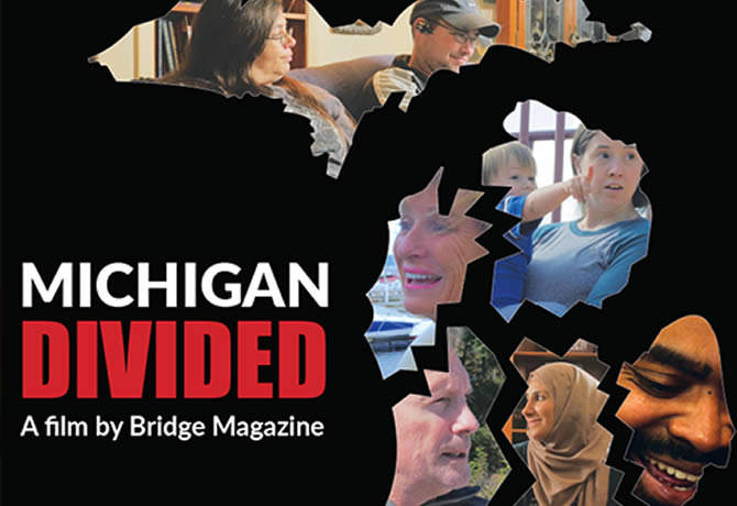 Movie poster for Michigan Divided