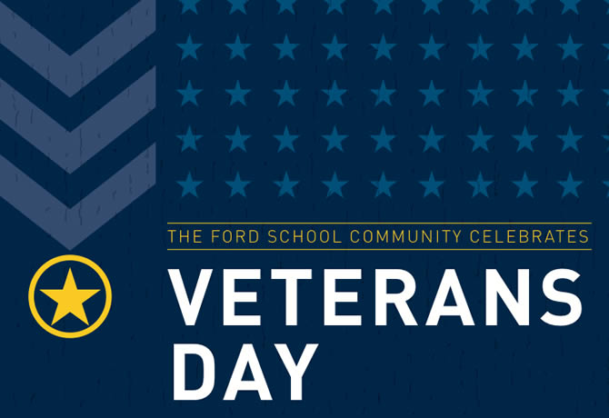 The Ford School community celebrates Veterans Day