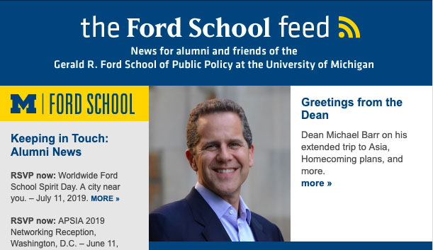 The Ford School Feed