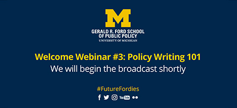 Link to:Welcome Webinar: Policy Writing 101