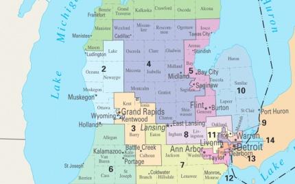 Michigan Congressional Map (113th Congress)