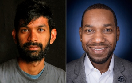 Headshots of Darshan Karwat and Tony Reames