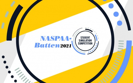 NASPAA Batten logo with a special graphic treatment
