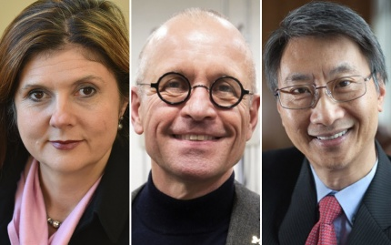 Headshots of Betsey Stevenson, Volker Sick, and Victor Li