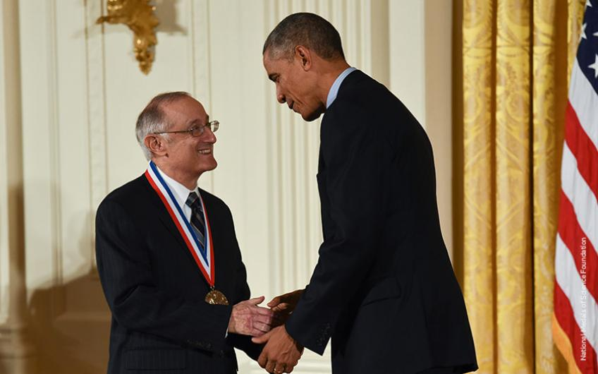Bob Axelrod received the National Medal of Science from President Barack Obama