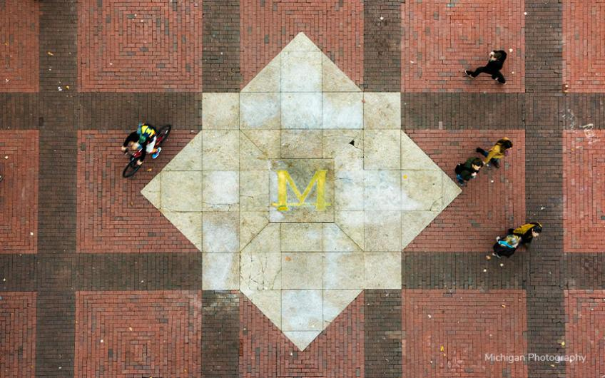 University of Michigan Diag from above