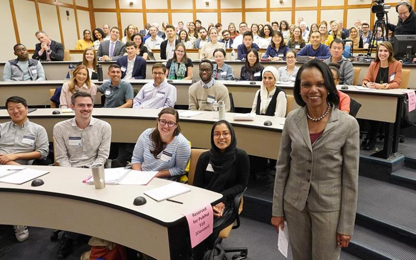 Former Secretary of State Condoleezza Rice with Ford School students