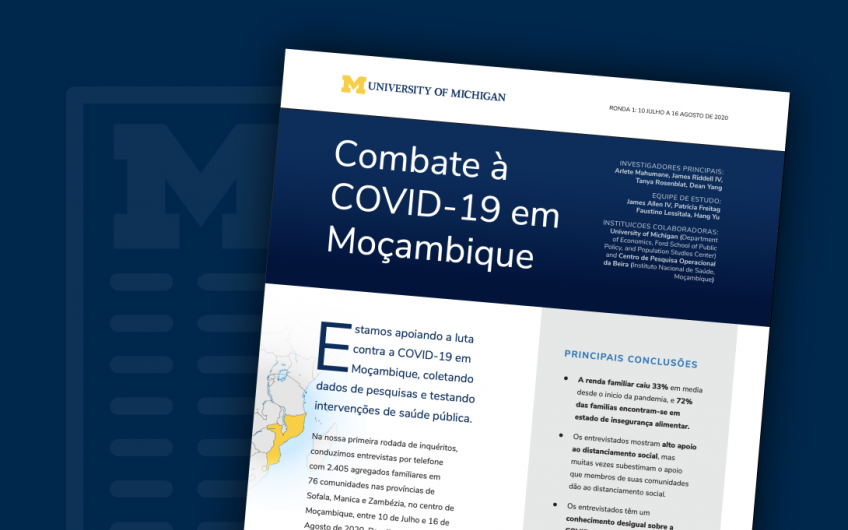 Combatting COVID-19 in Mozambique report cover