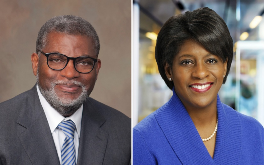 Headshots of Bill Bynum and Phyllis Meadows