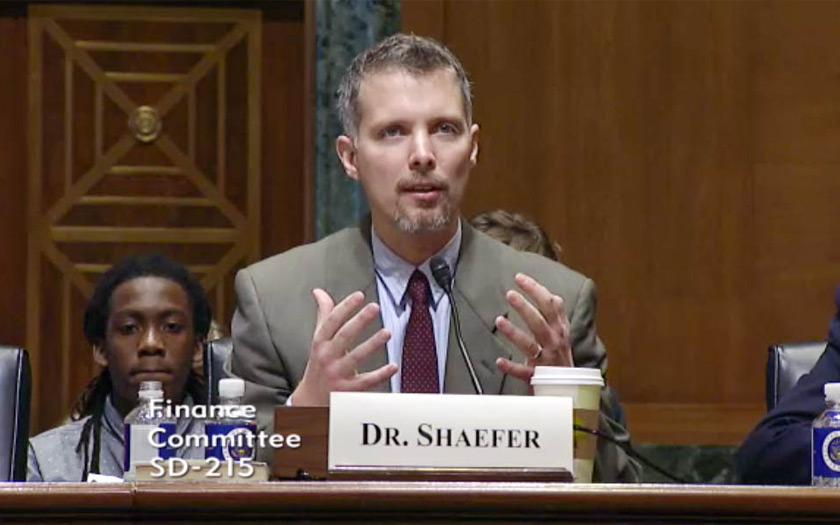 Luke Shaefer delivers testimony before the U.S. Senate Finance Committee
