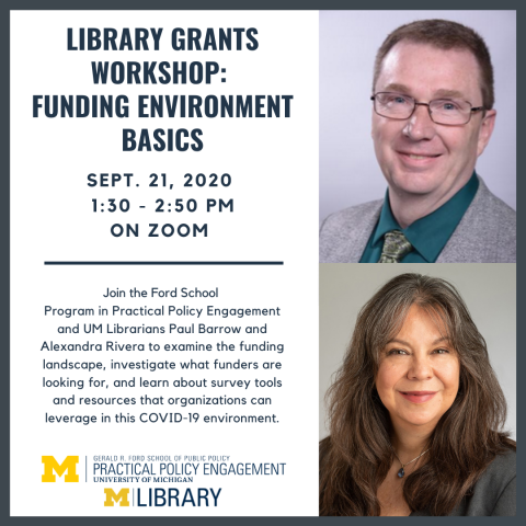 ibrary Grants Workshop Funding Environment Basics