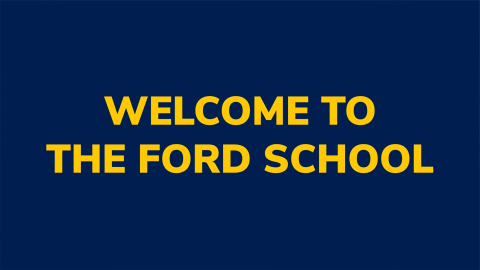 Welcome to the Ford School!
