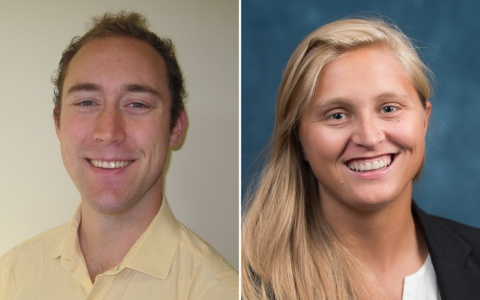 Side-by-side headshots of Ben Eikey (MPP '19) and Chelsea Davis (MPP '19)