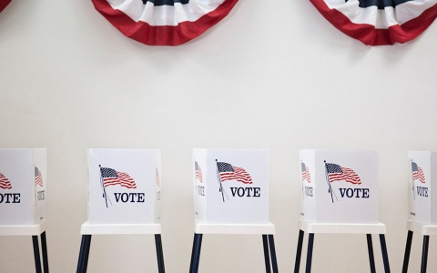 Voting booths await anxious voters
