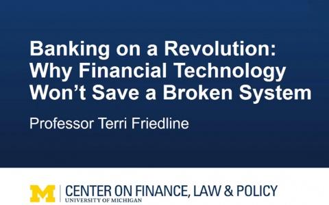 Link to: Terri Friedline: Banking on a Revolution