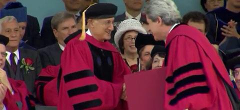 Photo of Robert Axelrod receiving his honorary degree
